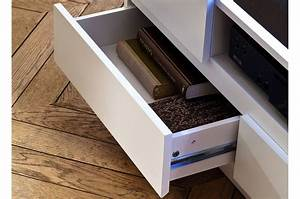 Meuble Tv Beton : meuble tv design laqu blanc mat et effet b ton led cbc meubles ~ Teatrodelosmanantiales.com Idées de Décoration