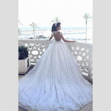 2019 Ball Gown Wedding Dresses 3dfloral Appliques Beaded