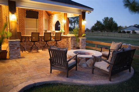 a taste of the hill country in richmond custom patios