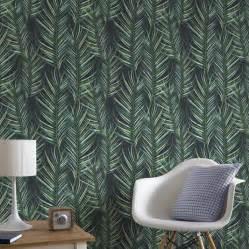 interior home paint palm leaf green wallpaper grahambrownuk