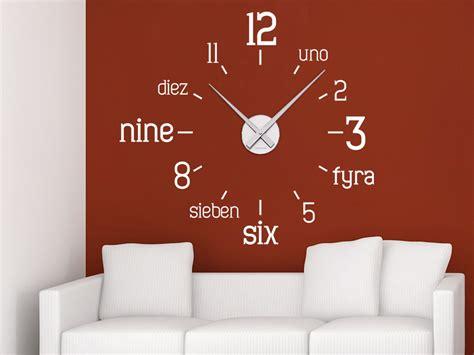 Moderne Uhren Für Die Wand by Wandtattoo Uhr International Wandtattoo De