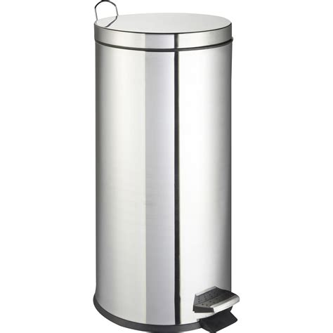 poubelle cuisine 30 litres poubelle de cuisine à pédale frandis métal inox 30 l