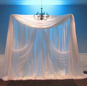 Party people event decorating company elegant wedding for Backdrop decoration for wedding