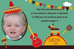 Texte Anniversaire 1 An Garçon : carte invitation anniversaire 1 an ro71 montrealeast ~ Melissatoandfro.com Idées de Décoration