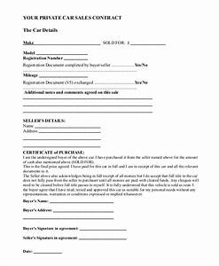 sample car sale contract forms 8 free documents in pdf doc With private party car sale contract template
