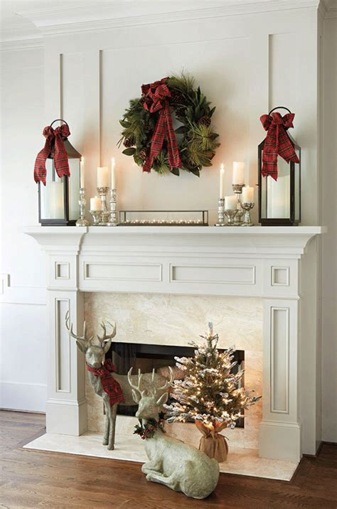 decorate mantel for christmas furnish burnish