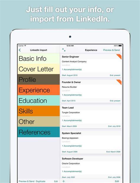 best resume builder app for ipad resume template