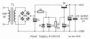 how to build power supply 0 15v 1a circuit diagram With bench variable power supply 0v 100v 2a