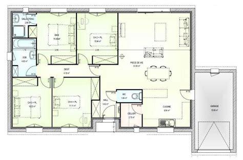 plan maison 120m2 3 chambres plan de maison 120m2 4 chambres systembase co
