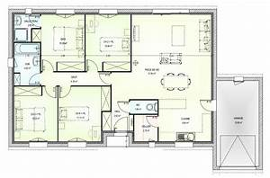 plan maison 100m2 4 chambres 12 120m2 lzzy co chambre With plan maison 120m2 4 chambres