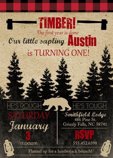 Lumberjack Theme  Ee  Birthday Ee   Party Invite Boys  Ee  Birthday Ee