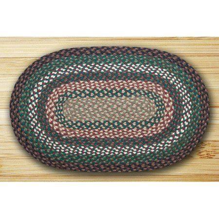 braided rugs walmart earth rugs oval braided green ivory area rug walmart
