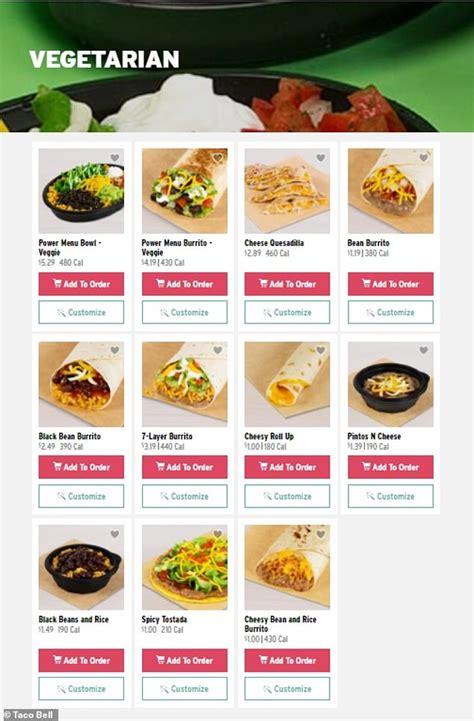 taco bell  debut  dedicated vegetarian menu  year