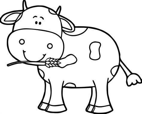 Cow Coloring Pages Printable Page Image Clipart Images