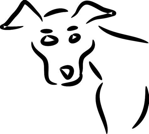 dog portrait alert  vector graphic  pixabay