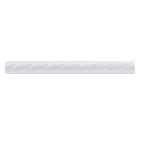 merola tile white rope 1 in x 9 3 4 in ceramic pencil