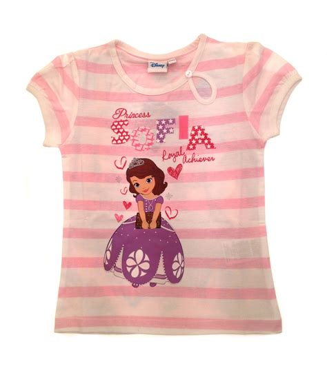 disney princess sofia t shirt sleeved top clothing uk 2 8 years ebay