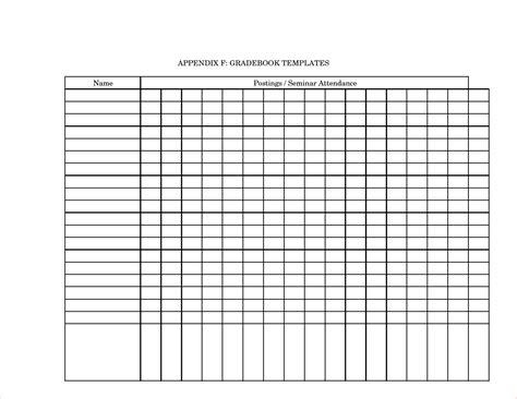 grade book template 4 printable gradebook template procedure template sle