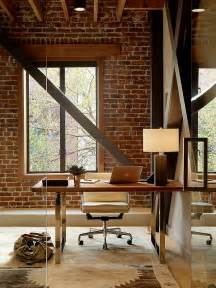 home wall design interior trendy textural 25 home offices with brick walls