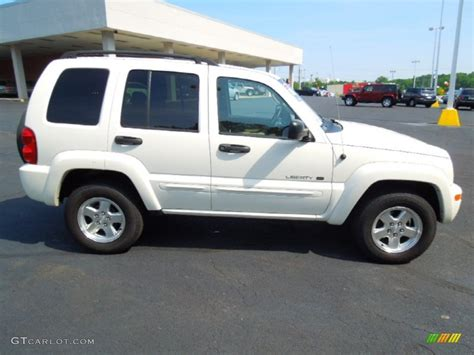 jeep liberty white stone white 2002 jeep liberty limited exterior photo