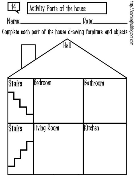 13 best images of parts of the house worksheets for