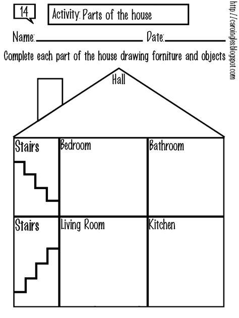 13 Best Images Of Parts Of The House Worksheets For Kindergarten  Worksheet Label Parts Of A