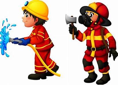 Firefighter Clip Clipart Fireman Fire Cartoon Firefighters