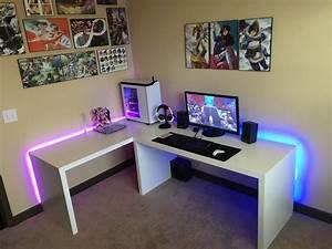 Ikea Design Your Own Desk New Apartment New Setup My Black White Battlestation