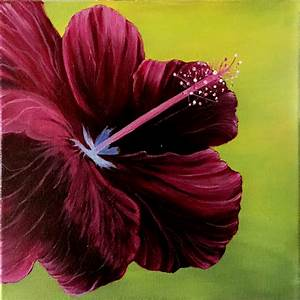 Hibiscus Flower Canvas Art Acrylic Painting - Jaxsology