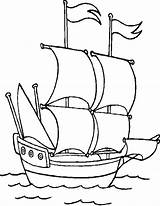 Coloring Boat Pages Boats Printable Theme Pirate Ship Sail Sheets Books Printables George Getcoloringpages Mayflower sketch template
