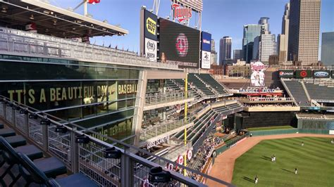 Target Field Home Run Porch by Minnesota Seating Guide Target Field