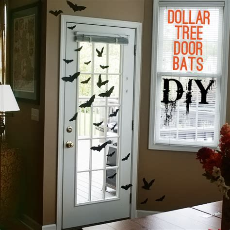 diy dollar tree halloween door bats  giveaway