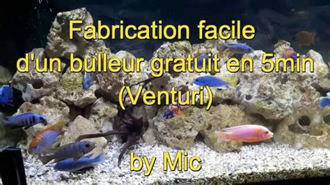 fabriquer re led pour aquarium bulleur venturi gratuit pour aquarium