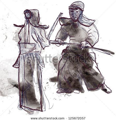 Anime Japanese Martial Arts Warrior With Powerful Budo Japanese Martial A Illustration