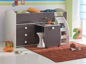 Lit Mezzanine Bureau Enfant : lit mezzanine bureau pour fille visuel 6 ~ Teatrodelosmanantiales.com Idées de Décoration