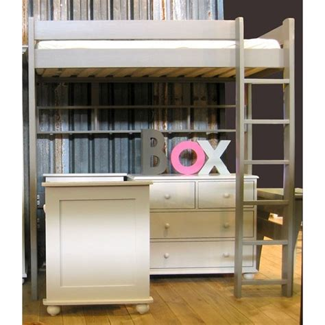 lit superposé avec bureau pas cher affordable lit mezzanine dominique hauteur cm dissociable