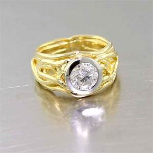 Non traditional engagement rings jewelsmith innovative for Wedding rings non traditional