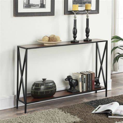 Foyer Tables With Storage slim console table narrow shelf storage sofa accent