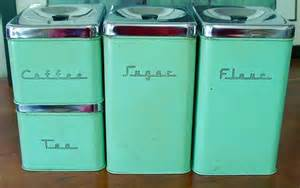 vintage kitchen canister sets retro mid century canister set 4 pieces green with chrome lids