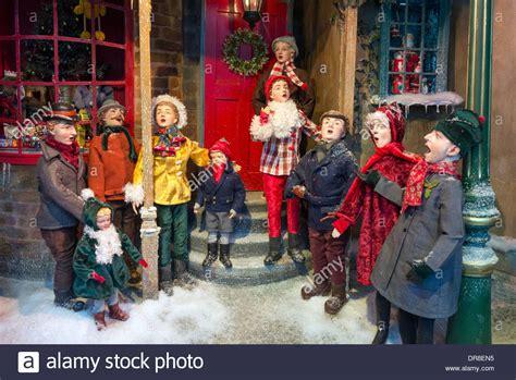 fortnum mason christmas window display  carol singers