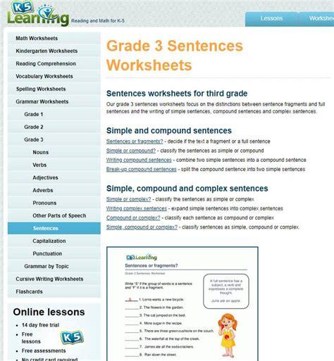 grade  grammar worksheets  learning