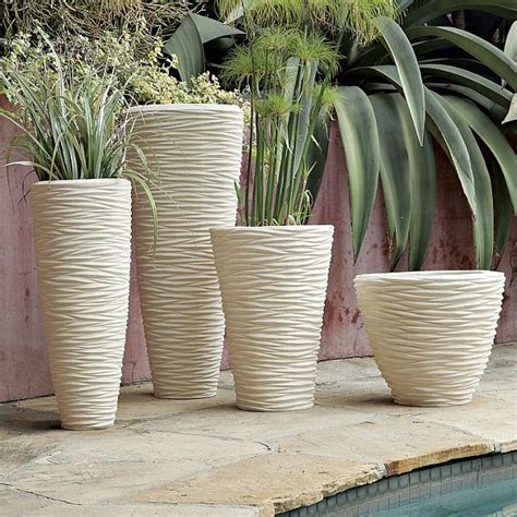 Textured Stone Planters For Your Minigarden