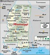 Mississippi Map / Geography of Mississippi/ Map of ...