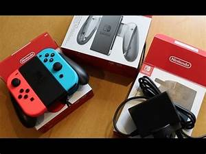 Nintendo Switch Neon Joy Con and Charging Grip