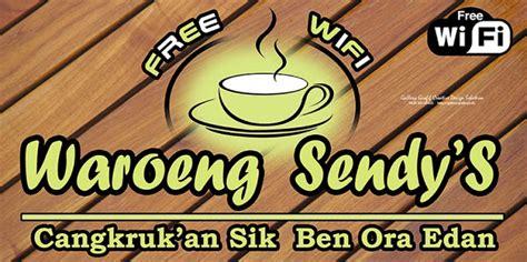 10 Contoh Desain Spanduk Warung Kopi Free WiFi Arif