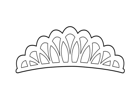 Tiara Coloring Page For Girls, Printable Free