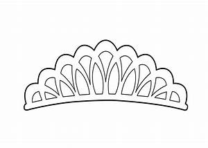 tiara coloring page for girls printable free coloring With tiara template printable free