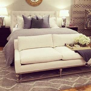 Love the low sitting couch at the foot of the bed would for Sofa at foot of bed