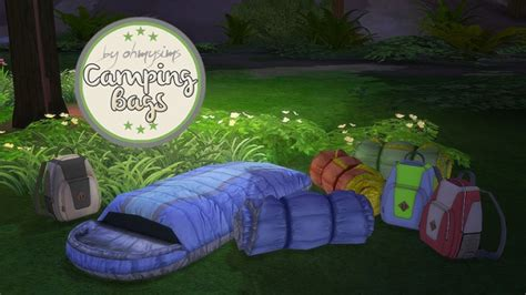 camping bags    sims  sims  updates