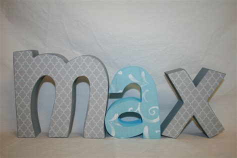 Chic Nursery Wooden Name Letters Beautiful Nursery Letters